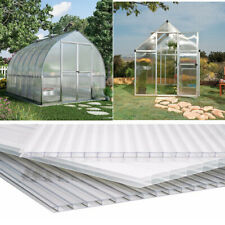 6Piece Polycarbonate Sheet Greenhouse Yard Shed Cover Glazing Sheets 4mm - Clear
