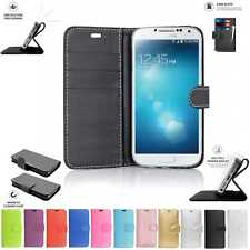 Samsung Galaxy S4 i9500 i9505 Book Flip Pouch Cover Case Wallet Leather Phone