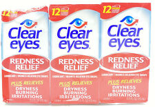 3 PACK Clear Eyes Redness Relief Eye Drops 0.5 Fl Oz