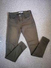 Topshop Moto Leigh Khaki Green Skinny Jeans ~ Waist 28 Length 32