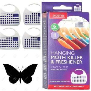 Acana Hanging Moth Repeller Killer Lavender Freshener Wardrobe Hangers
