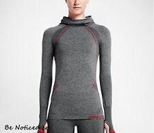 Nike Pro Hyperwarm Limitless  Women's Training Hoodie S Gray Red Gym New