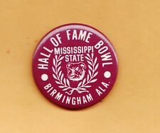 1981 MISSISSIPPI STATE BULLDOGS HALL OF FAME BOWL PINBACK UNSOLD GAMESITE STOCK
