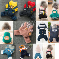Dog Hoodie Jeans Coat Sweater Clothes Pet Puppy Cat Jacket Jumpsuit Jumper Dress