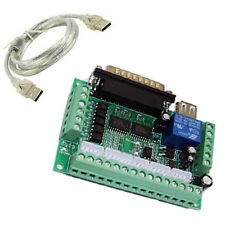For MACH3 Stepper Motor Driver USB 5 Axis Breakout Board Interface Adapter AU