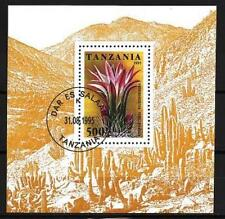 Fleurs -Tanzanie (158) bloc oblitéré