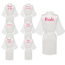 Satin Silk Personalized Wedding Bathe Robe Bridesmaid Bride Mother Dressing Gown