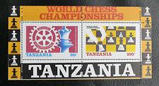 TIMBRES ECHECS : TANZANIE 1986 BLOC FEUILLET N° 44** SANS CHARNIERE - ROTARY