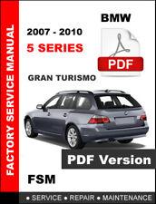 BMW 5 SERIES 535i 535xi 535i GT GRAN TURISMO WAGON  2007 - 2010 WORKSHOP MANUAL