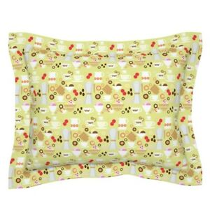 Coffee Italian Sweets Cockie Ice Icecream Breakfast Cup Pillow Sham by Roostery