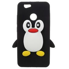 Silikon Case Soft Cute 3D Pinguin Motiv Flexibel Hülle Schwarzfür Huawei Nova