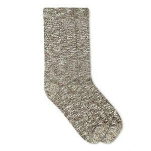 Alaska Knits Women's Outdoor Boot Crew Sock Wool Blend 4-10 Marled DK Brown NEW
