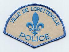 Ville de Loretteville Police, Quebec, Canada HTF Vintage Uniform/Shoulder Patch