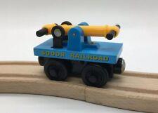 Thomas Wooden Railway Hand Car Handcar NEAR MINT Vintage Train Set HANDLES PUMP