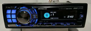 Alpine CDA-9886 CD PlayerStereo USB AUX w/ Wiring Harness  - Tested Fully -