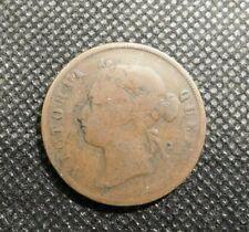 1876 STRAITS SETTLEMENTS VICTORIA QUEEN ONE CENT COIN!  e1131QHT