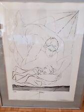 """""""lithographie Pierre Yves tremois les amoureux"""" années 70    signée et num:54/80"""