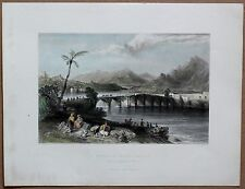 1838 Bartlett print TASKOPRU (STONE BRIDGE) OVER SEYHAN RIVER, ADANA; TURKEY #10
