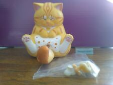 Cjoy Crotch Staring Cats Series 2 Mini Figure Yellow with Orange Lining/Spots