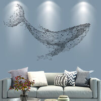 Whale 3D Stereo Removable Wall Stickers Tree Wallpaper for LivingRoom Home Decor
