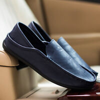 Peas Shoes Men's Summer Driving Shoes Casual Loafers Business Leather Sandals
