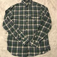 J Crew Mens Size Small Indian Madras Long Sleeve Button Down Woven Shirt EUC