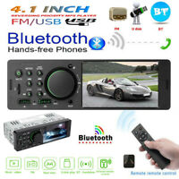 "1 Din 4.1"" Car Stereo MP5 Player Bluetooth USB AUX FM Radio Receiver Head Unit"