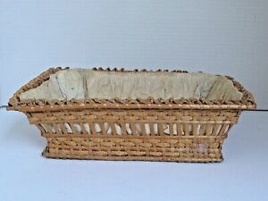 Antique Rye Intricately Woven Sewing / Vanity Basket c.1900