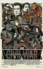 Mondo And Marvel Captain America Civil War Variant By Tyler Stout