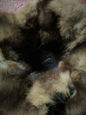 Joseph Padded Coat Raccoon Fur Collar Black Size 42 10 12 RRP £295