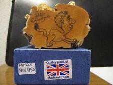 Harmony Kingdom Mascot Pen Pals Pigs Uk Made Box Figurine W/Peters Art Sg Rare