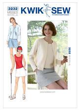Kwik Sew Sewing Pattern 3232 Misses' Golf Sport Outfit Skort Top Cardigan XS-XL