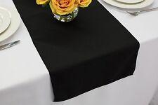 14 x 108 inch Polyester Table Runner Black