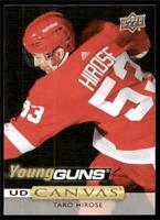 2019-20 UD Series 1 Canvas Young Guns #C110 Taro Hirose - Detroit Red Wings