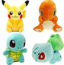 4PCS Pokemon Plush Toys Pikachu Bulbasaur Squirtle Charmander Action Toy HOT