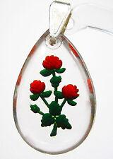 Modeschmuck-Halsketten & -Anhänger aus Glas und Gemischte Metallen mit Florales