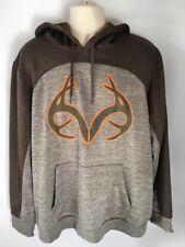 Realtree Men's Hoodie Sweatshirt Brown Long Sleeves Polyester Size XL (46-48)