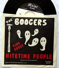 HEAR Boogers 45 Nitetime People/Should You Be NM psych garage mod beat PIC SLEEV