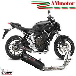 Scarico Completo Mivv Yamaha MT 07 2014 Scarico Oval Carbon Cap Per Moto