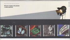 GB 1996 CINEMA presentazione confezione da 266 sg1920-1924 set menta francobolli