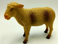 Sheep Figure Hard Plastic Standing Grazing Farmyard Animal Kids Play Pretend Toy