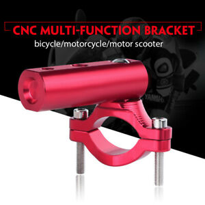 Motorcycle Red CNC Headlight Tube Fork Bracket Holder Adjustable Clamp 20-35mm