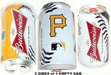 2013 PITTSBURGH PIRATE BASEBALL MLB BUCS BUDWEISER BALL BEER CAN BUD SPORTS GOLD