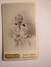Gand - Anvers - Molenbeek - Bruxelles - sitzendes kleines Kind / CDV Belgien