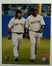 David Ortiz and Manny Ramirez Boston Red Sox  8x10 photo #ed Hologram