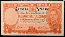 1939 Australia Banknotes 10 Shillings (1/2 Pound)  P-25a
