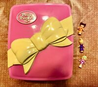 Vintage Polly Pocket 1994 Bluebird Star Bright Dinner Party Pink Box Complete