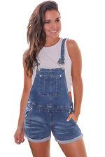 US Women Girl Casual Denim Cowboy Short Romper Overalls Jumpsuit Jeans Trousers