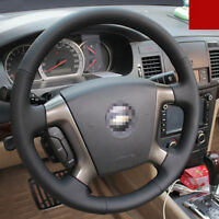 For Chevrolet Epica Hand-stitched Interior Steering Wheel Cover Black Leather