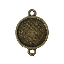 100 Connecteurs Support de Camée Cabochon Couleur Bronze 20x14mm